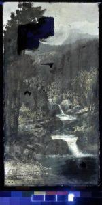painting viewed in ultraviolet
