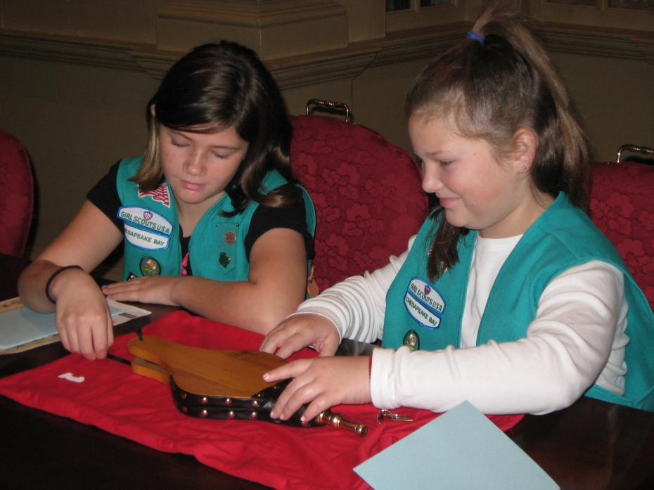 girl scouts with bellows