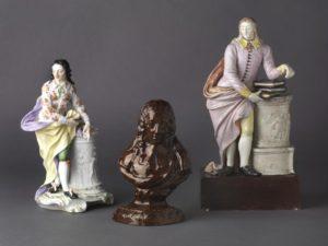 ceramic figures and bust of john milton
