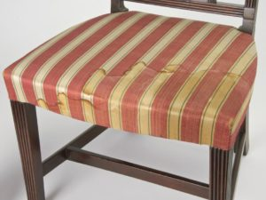 chair seat with stain