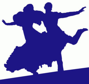 Silhouette of Fred Astair and Ginger Rogers