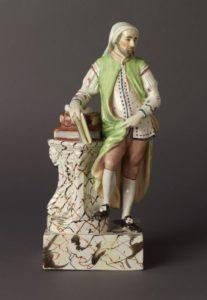 Earthenware figure of Geoffrey Chaucer