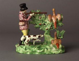 Staffordshire figure of huntsman