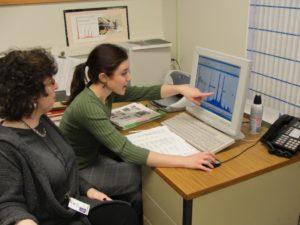 Lauren and Senior Scientist Dr. Jennifer Mass