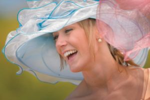 ptp laughing lady in hat