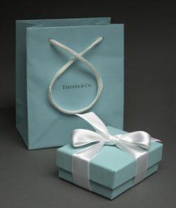 Tiffany gift wrap and gift bag