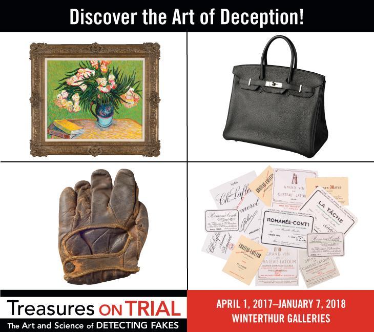 treasures on trial exhibition masthead